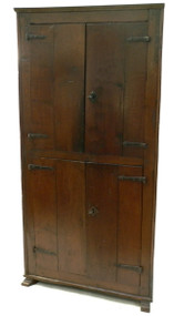 Scandinavian Oak Corner Cupboard