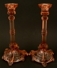 Pair of Glass Candlesticks