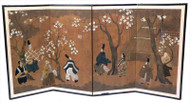 Four Panel Japanese Screen