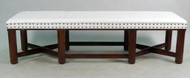 Hickory Chair Trestle Base Bench