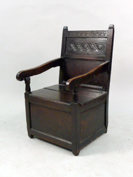 An Elizabethan Throne Chair Owned By The Old Abercrombie and Fitch!