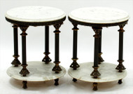 Italian Marble Classical Style Side Tables - Priced Each