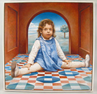 A Little Girl Oil on Canvas No. 3