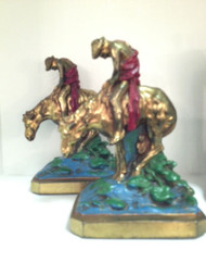 End of the Trail Bookends - Sold as Pair