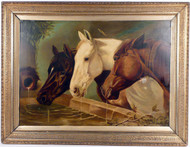 Beauregard Horses Oill on Canvas