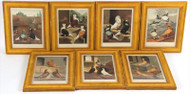 Set of Seven Ornithological Lithographs from 1875 of Pigeons