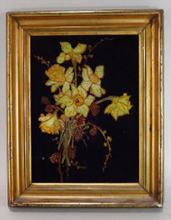 Tinsel Reverse Glass Painting 19th Century