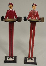 1920's- 30's Standing Bellhop Smoking Stands- Priced Each