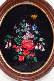 Tinsel Painting- Exquisite Small Oval