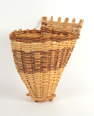 A 19th Century French Wooden Hand Woven Grape Picker's Basket