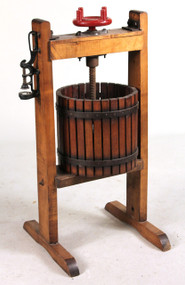 Pearce Co. Wood and Metal Grape Press
