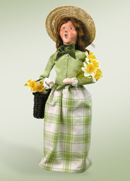 Byers Choice Woman with Daffodils