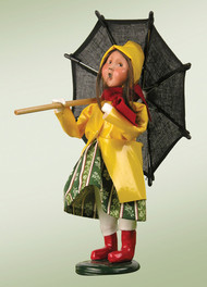 Byers Choice Girl with Umbrella