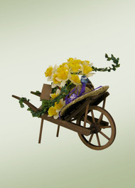 Byers Choice Spring Wheelbarrow