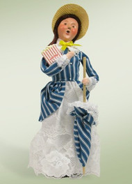 Byers Choice Woman with Popcorn