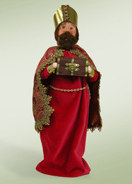 Byers Choice Nativity Red Wise Man with Myrrh