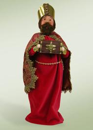 Byers Choice Nativity Red Wise Man with Myrrh
