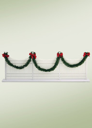 Byers Choice Decorated Picket Fence