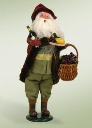 Byers Choice Wine Santa