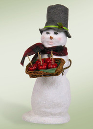 Byers Choice Snowman with Candy Apples