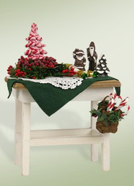 Byers Choice Candy Cane Table