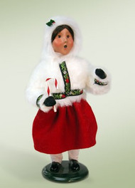 Byers Choice Polar Girl with Candy Cane