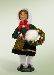 Byers Choice Girl with Wreath