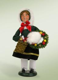 Byers Choice Girl with Wreath