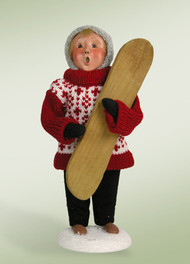 Byers Choice Boy with Snow Board