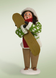 Byers Choice Girl with Snow Board