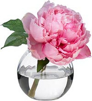 Diane James Pink Peony in Glass Bowl