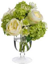 Diane James Rose and Snowball Bouquet