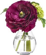 Diane James Amethyst Ranunculus in Glass Bud Vase