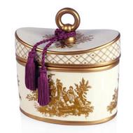 Seda France Rhubarb Pear Classic Toile Ceramic Two-Wick Candle