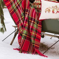 April Cornell Tartan Plaid Throw Blanket