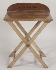 A Late 19th Century Luggage Stand Owned by Richard Widmark!