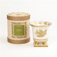 Seda France Elegant Gardenia Classic Toile Petite Ceramic Candle