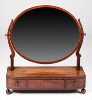 An English Regency Period Mahogany Dresser Mirror