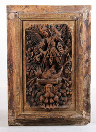 An Intricately Carved Late 18th Century European Door Panel