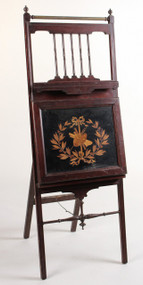 A Mahogany Easel 19th Century American