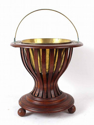 A George III Mahogany and Brass Peat Bucket