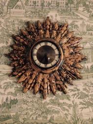 A Deco Era Vintage Starburst Clock