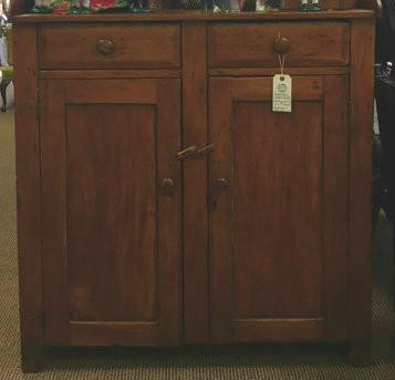Wonderful Pumpkin Pine 19th Century Cabinet.