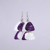 Chandelier II Purple & White Earring's