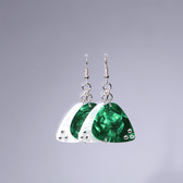 Chandelier Earrings Green & White