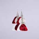 Chandelier II Red & White Earring's