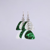 Chandelier II Green & White Earring's