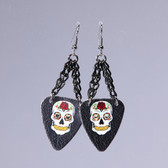 Sugar Skull  Black Earring's