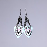 Sugar Skull  Blue Earring's