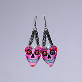 Sugar Skull  Purple Earring's